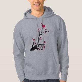 heart tree black hoodie