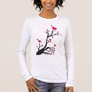 heart tree black long sleeve T-Shirt