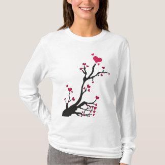 heart tree black T-Shirt