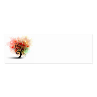 Heart Tree Bookmark Card Double-Sided Mini Business Cards (Pack Of 20)