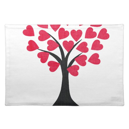 Heart Tree Cloth Placemat