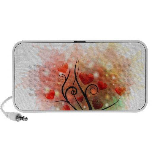 Heart Tree Doodle iPod Speaker