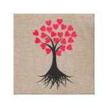 Heart Tree Gallery Wrapped Canvas