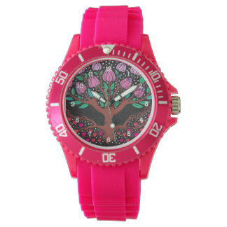 Heart Tree in Pink Watches