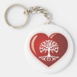 Heart Tree Key Chains