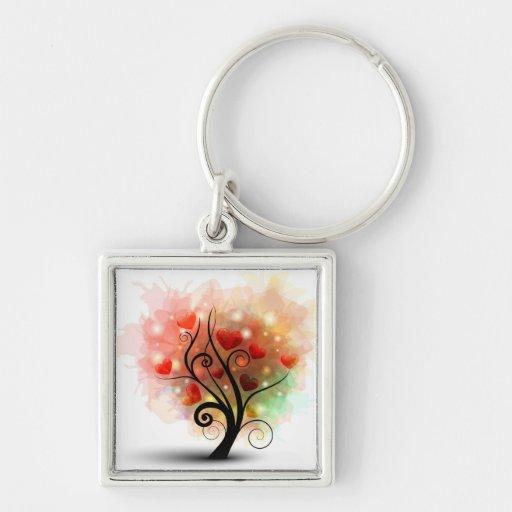 Heart Tree Keychain