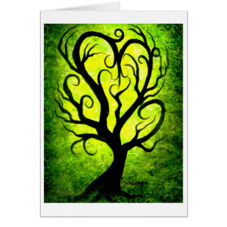 Heart tree-love greeting card