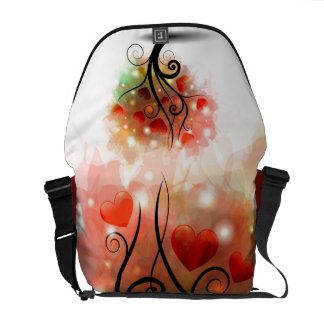 Heart Tree Messenger Bag