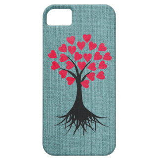 Heart Tree on Blue iPhone 5 Case