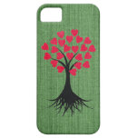 Heart Tree on Green iPhone 5 Case