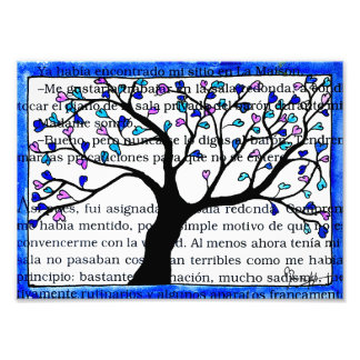 Heart Tree on Spanish Text Art Photo