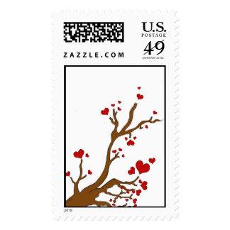 heart tree postage
