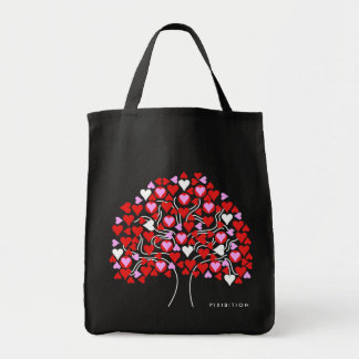 Heart Tree (red pink white) Bag