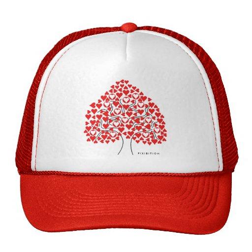 Heart Tree (red) Valentine's Hat