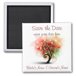Heart Tree Save the Date Magnet