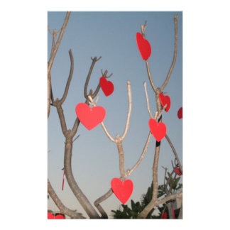 Heart Tree Stationery Paper