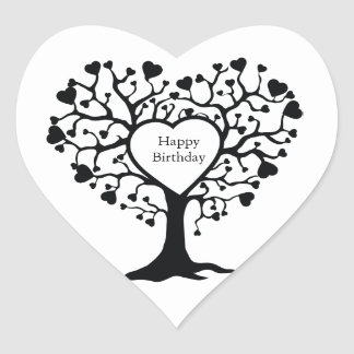 Heart Tree Heart Sticker