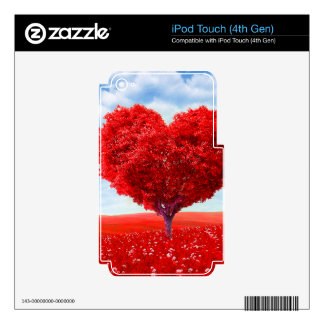 Heart Tree Valentine Decal For iPod Touch 4G