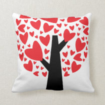 Heart Tree Valentine's Day Pillow