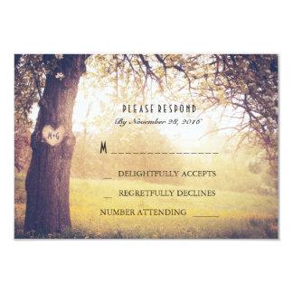 Heart Tree Wedding RSVP Card