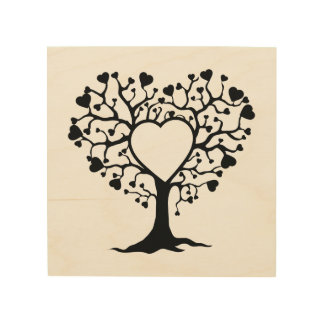 Heart Tree Wood Wall Art