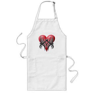 heart-tribal apron