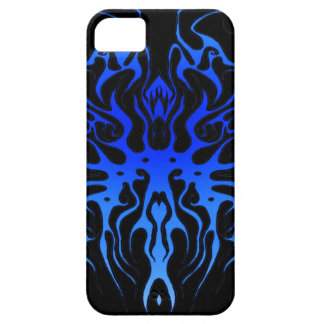 Heart Tribal Tattoo - Black and Blue Arteries iPhone 5 Cover