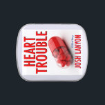 """Heart Trouble fresh mint tin<br><div class=""""desc"""">Having heart trouble? No worries — reading a healthy dose of Josh Lanyon&#39;s short story Heart Trouble will help you. And so will this fresh mint tin... </div>"""