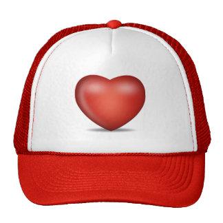 heart trucker hat