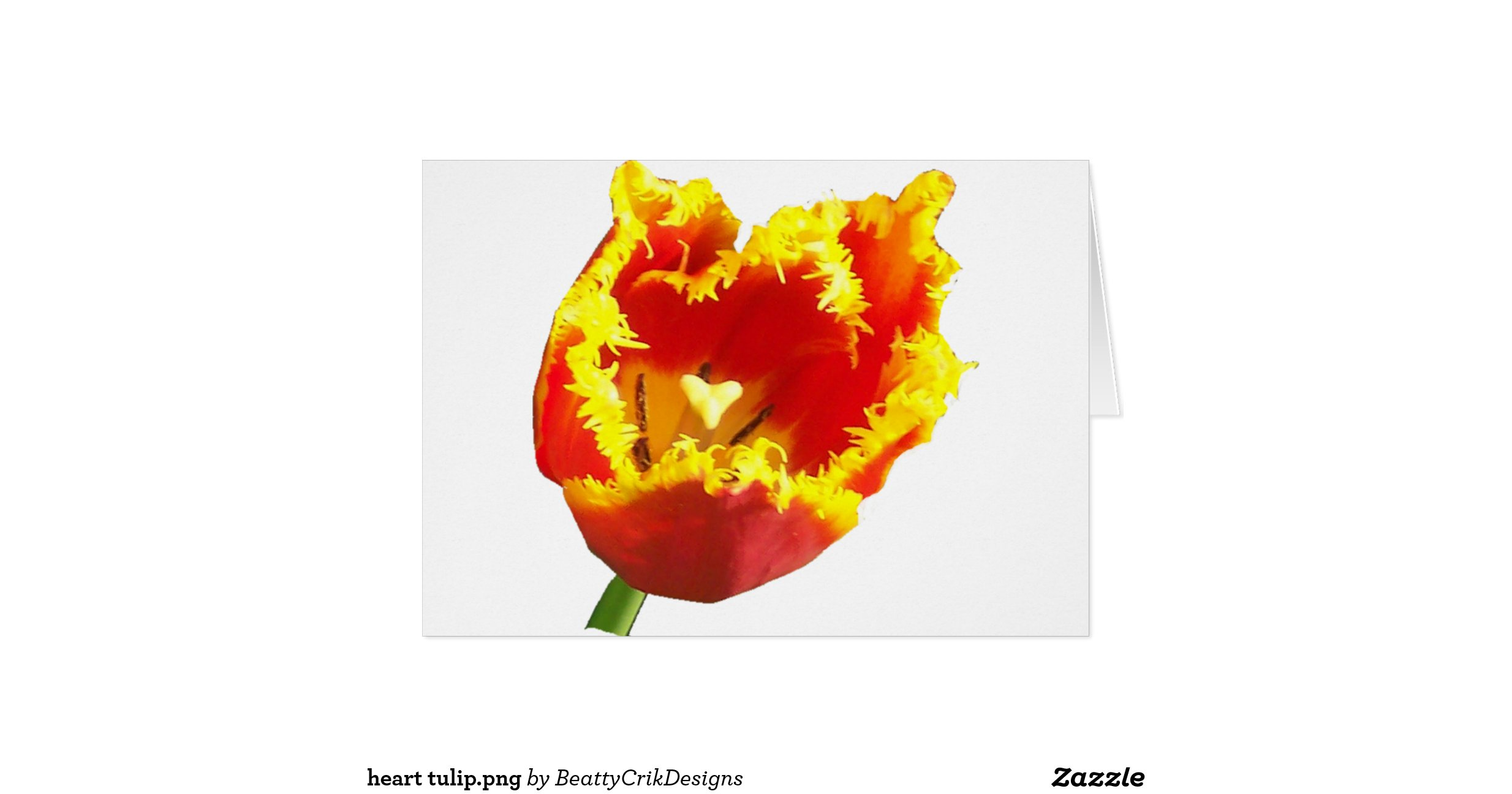 tulip in a heart card tulip png greeting card zazzle 7267