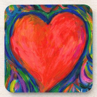 Heart Twirl Beverage Coaster