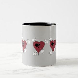 Heart Two-Tone Coffee Mug