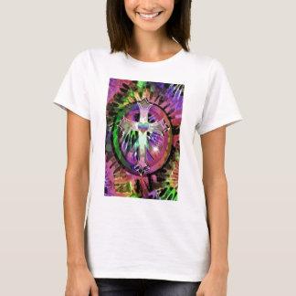 Heart Tye Dye Cross T-Shirt