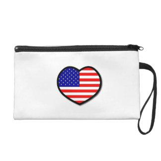 Heart United States of America Wristlets