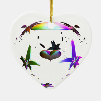 Heart Unleashed Ceramic Ornament