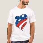 Heart USA Flag Tshirts and Gifts