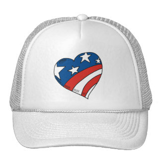 Heart USA Flag Tshirts and Gifts Hat