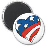 Heart USA Flag Tshirts and Gifts Magnet