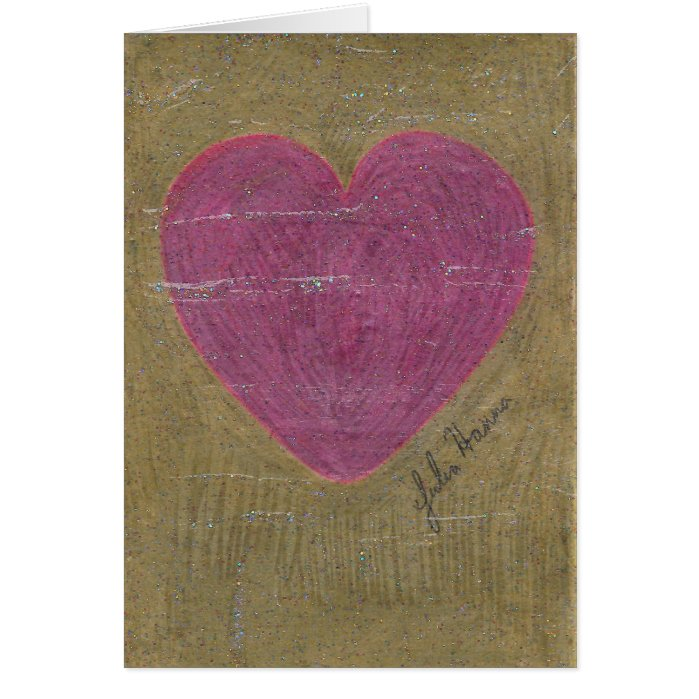 Heart Valentine Birthday Card By Julia Hanna