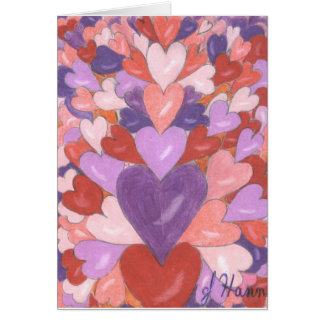 Heart Valentine Card by Julia Hanna