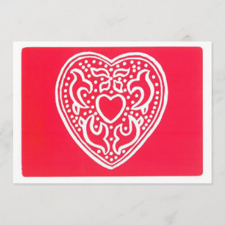 Heart Valentine Holiday Card