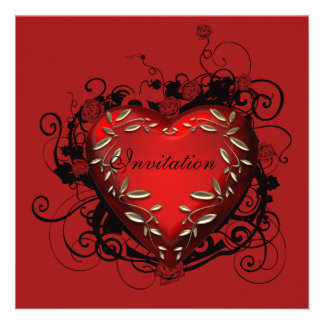 Heart Valentine s Day Party Invitation
