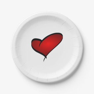 Heart Valentine's Day Paper Plate