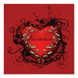 Heart Valentineu0026#39;s Day Party Invitation