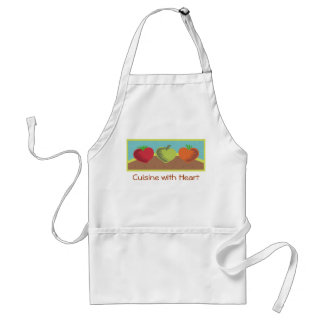 heart vegetables healthy dining gardening love ... adult apron