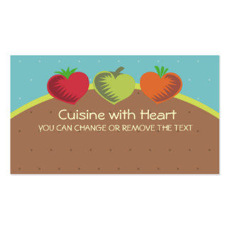heart vegetables healthy dining gardening love ... business card templates