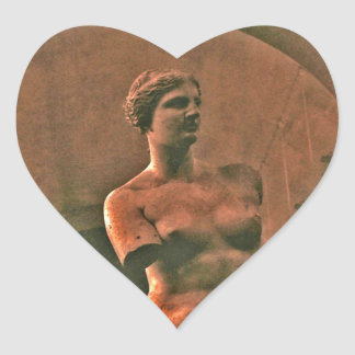 Heart Venus de Milo Greek Goddess Stickers
