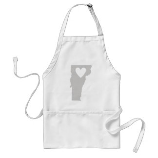 Heart Vermont state silhouette Adult Apron