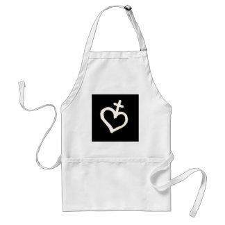 heart veve apron