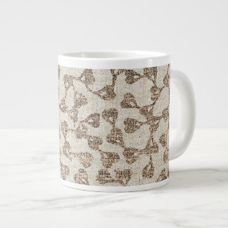 Heart Vine Cup - white/bronze/pink